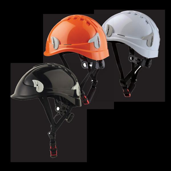 Alpin Elmetto adatto a lavori in alta quota con scocca in policarbonato ad alta resistenza e 8 punti di sospensione