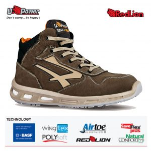 CARTER S3 SRC Scarpa linea RED LION alta in pelle nabuk bottalato