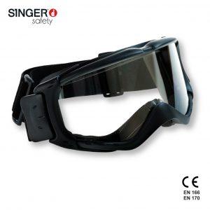 Evaflex Ampi occhiali protettivi a mascherina con lenti antigraffio e anti appannamento