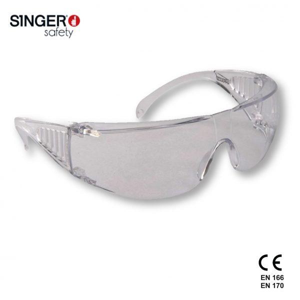 Evalab Occhiali protettivi schermo e protezioni laterali in policarbonato trasparente