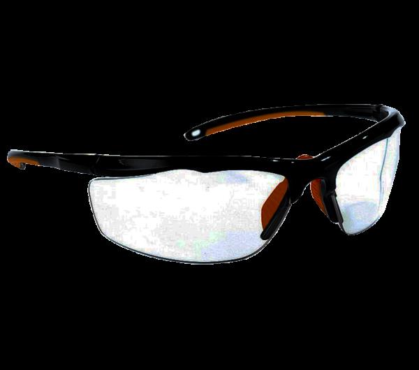 Evalor Occhiali protettivi con aste regolabili e lenti antigraffio trasparenti