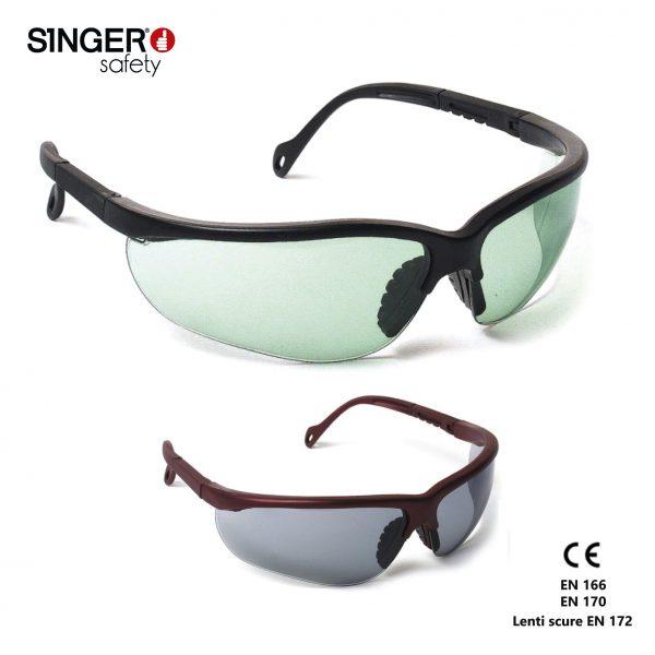 Evashark Ampi occhiali protettivi a mascherina con lenti antigraffio e anti appannamento