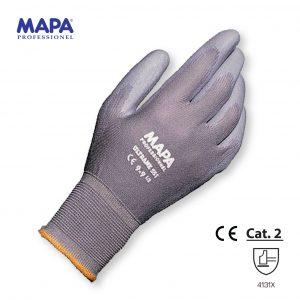 Ultrane 551 Guanto maglia di poliammide rivestito schiuma in poliuretano grigia